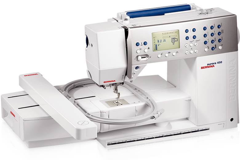 Bernina Aurora 450 + set s patkou